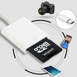 USB 3.1 Type C USB-C to SD / TF memory Card Reader Adapter F