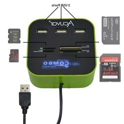Acuvar Usb All-In-1 Combo Hub With 4 Card Readers And 3 Usb