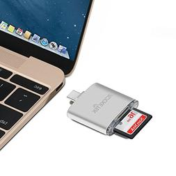 Rocketek USB C OTG SD Card Reader up to 250MB/s for SDXC, SD