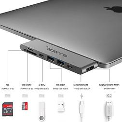 USB-C Hub ANNBOS 7-in-1 Type C Hub with HDMI Port, USBC Char