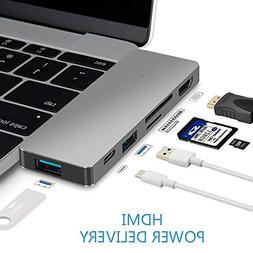 USB Type C Hub Power Delivery, Multi-port Dongle, USBC Adapt
