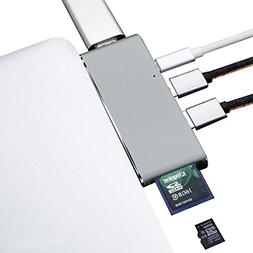 USB-C HUB,ZIKO Aluminum Body Multiport Adapter with PD Charg