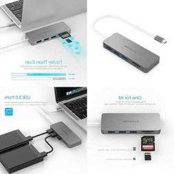 USB C Hub W 3.0 Ports & SD/TF Card Reader Compatible Apple 2