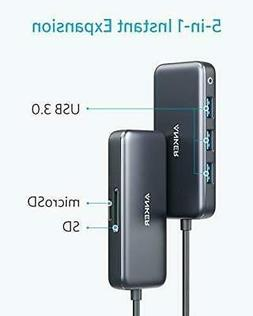 Anker USB C Hub WITH SD/TF Card Reader, 3 USB 3.0 Ports 5-in