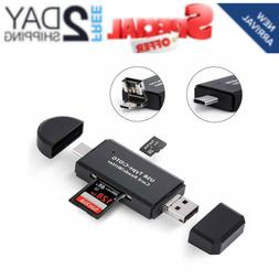 COCOCKA USB C Memory Card Reader, 3-in-1 Micro USB to USB Ty