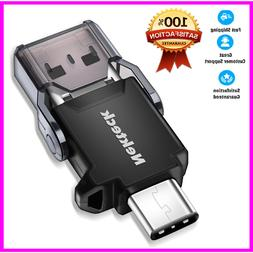 Nekteck USB Type C OTG Micro SD Card Reader with Additional