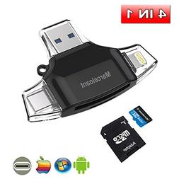 4in1 USB Flash Dirver for iPhone, Marceloant Card Reader Mic