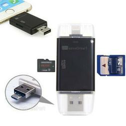USB Flash Drive SD TF Card Reader Adapter For iPhone Xs Xr X