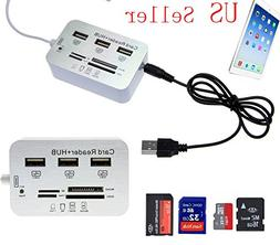 FYL Card Reader Adapter+ 3-USB Hub Camera Connection Combo K