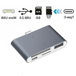 USB Type C 3.1 to USB OTG HUB Adapter Micro SD/TF Memory Car