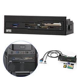 USB3.0 Power PC Case Front CD Driver Panel Internal SD/XD Mu