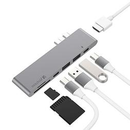 Aluminum TB3 USB Type-C 2016/2017 MacBook Pro Hub Adapter Do