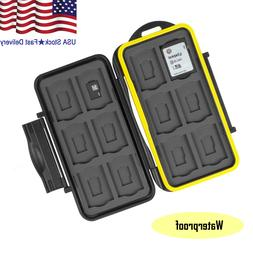 Water-Resistant Memory Micro SD Card Case Storage Holder 24
