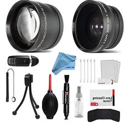 58mm Wide Angle and Telephoto Conversion Lens Accessories Ki