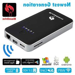 Blazedrive Wifi Hard Drive Enclosures, Support IOS Android W